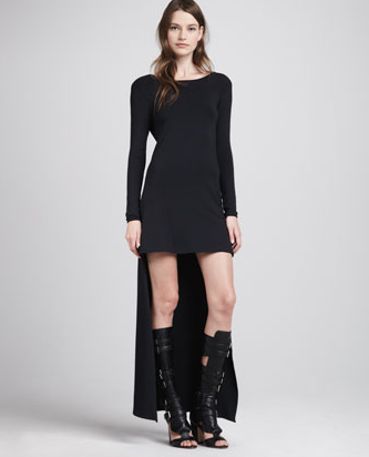 Alexis   Maddie High Low Dress  Black   CUSP